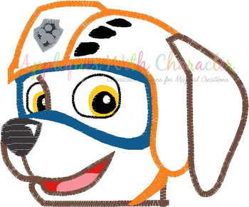 Pup Patrol Zoomy Peeker Applique Design