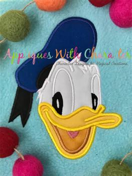 Don Duck Face Applique Design