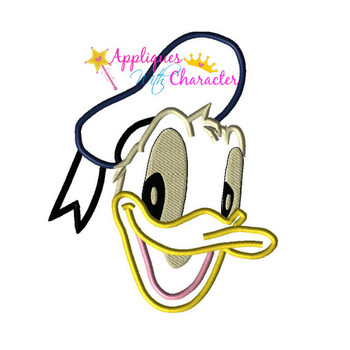 Don Duck Face Applique Design