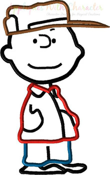 Peanuts Charles Applique Design