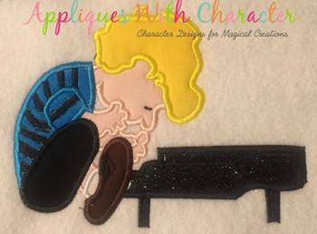 Peanuts Piano Boy Applique Design