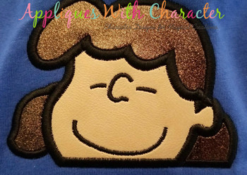 Peanuts Luci Peeker Applique Design