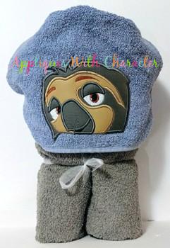 Zoo Sloth Peeker Applique Design