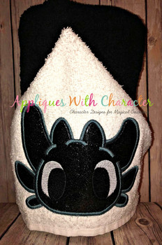 Train a Dragon Toothless Dragon Peeker Applique Design
