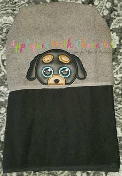 Doggy Peeker Applique Design