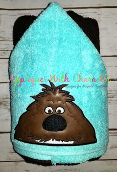 Pets Shaggy Duke Dog Peeker Applique Design