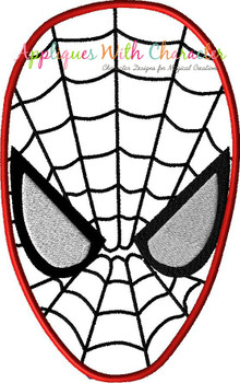 Spider Hero Face Applique Design