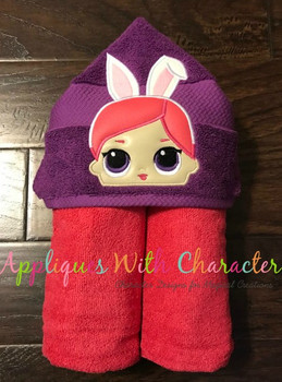 Bunny Peeker Doll Applique Design