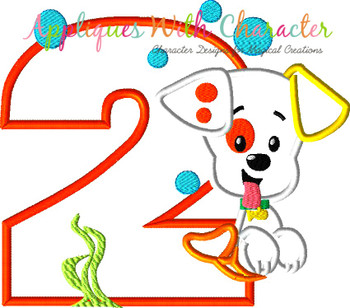 Bubble Puppy TWO Applique Design
