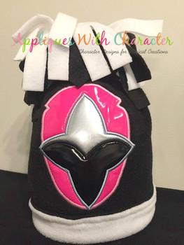 Ninja Pink Helmet Applique Design