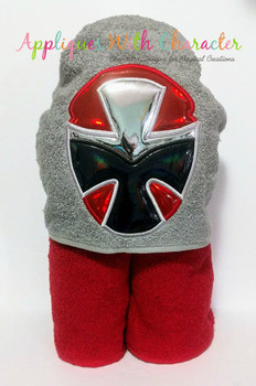 Ninja Red Helmet Applique Design