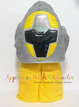 Ninja Yellow Helmet Applique Design