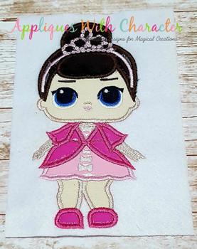 Fancy Doll Applique Design