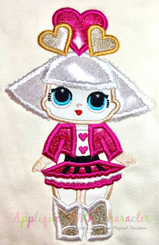 Hearts Doll Applique Design