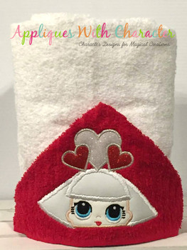 Hearts Doll Peeker Applique Design