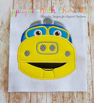 Chug Yellow Train Applique Design