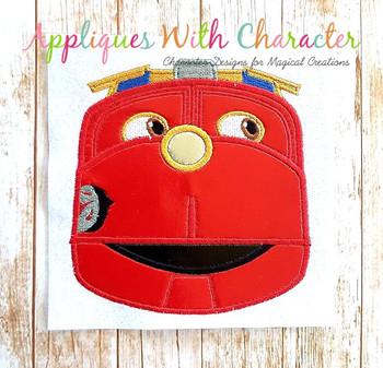 Chug Red Train Applique Design