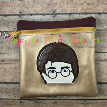 Harry Wizard Peeker Applique Design