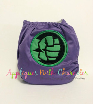 Green Fist Symbol Applique Design
