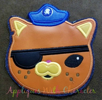 Diver Cat Applique Design