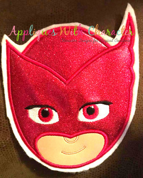 Hero Masked Owl Applique Design