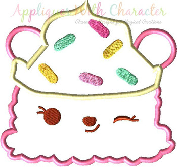 Num Cupcake Applique Design
