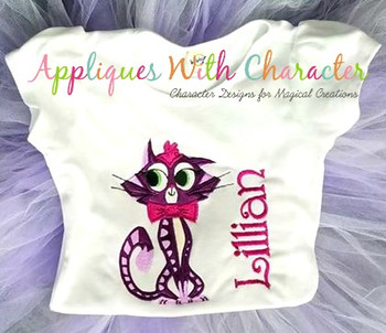 Puppy Friends Hissy the Cat Applique Design