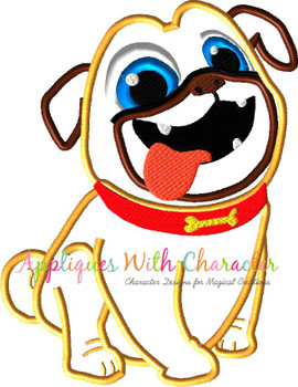 Puppy Friends Rolly Applique Design
