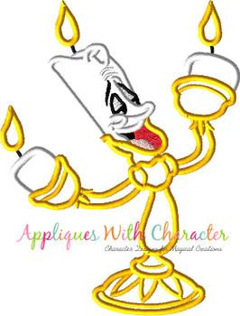 Beauty Candleabra Applique Design