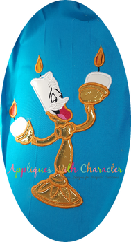 Beauty Candleabra Applique Design