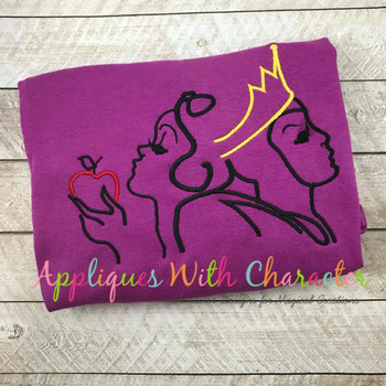 Snow Girl Queen Silhouette Embroidery Design