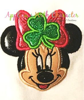 Miss Mouse St. Patrick's Day Applique Design