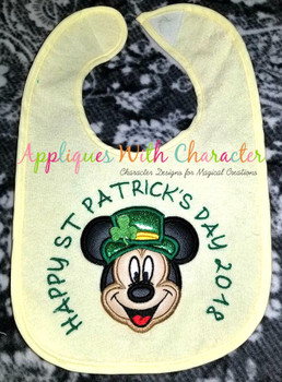 Mr. Mouse St. Patrick's Day Applique Design