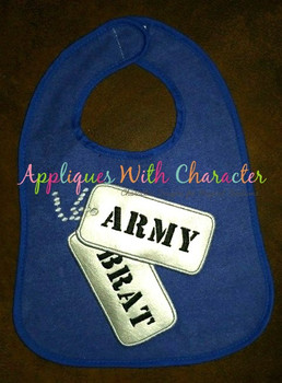 Dog Tags Military Applique Design