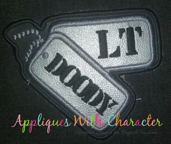Dog Tags Patch Military Applique Design