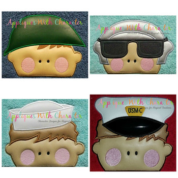 Military Peeker Applique Design Set