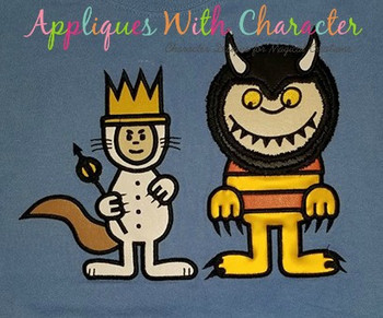 Wild Things Monster & Max Applique Design Set