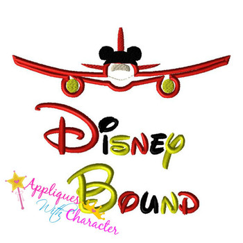 Disney Bound Airplane Saying Applique Design