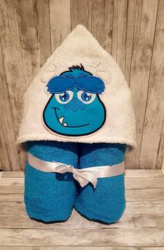 Blue Monster Full Face Applique Design