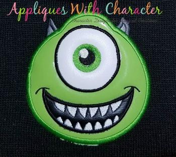 Green Monster Full Face Applique Design