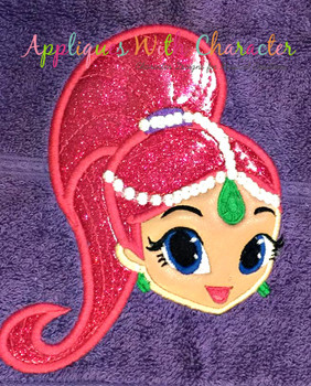 Shimmer Full Face Applique Design