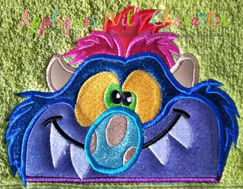 Pet Monster Peeker Applique Design