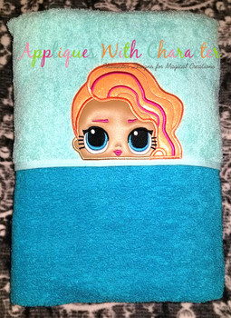 Pearl Surprise Peeker Doll Applique Design