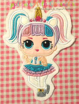 Unicorn Doll Applique Design