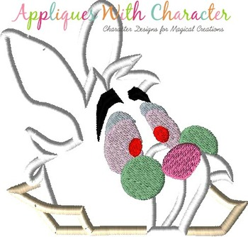 Alyce Rabbit Peeker Applique Design