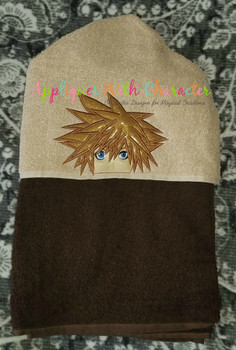 Kingdom Harts Sora Peeker Applique Design