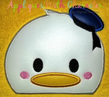 Don Duck Tsum Peeker Applique Design
