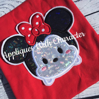 Miss Mouse Tsum Tsum Applique Design