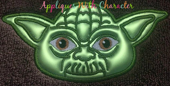 Yoda Full Face Star Battles Applique Design
