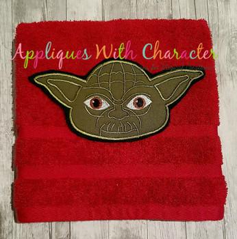 Yoda Full Face Star Battles Applique Design